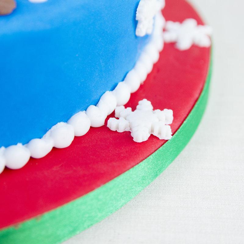 Tort Craciun - Mos Craciun si renul