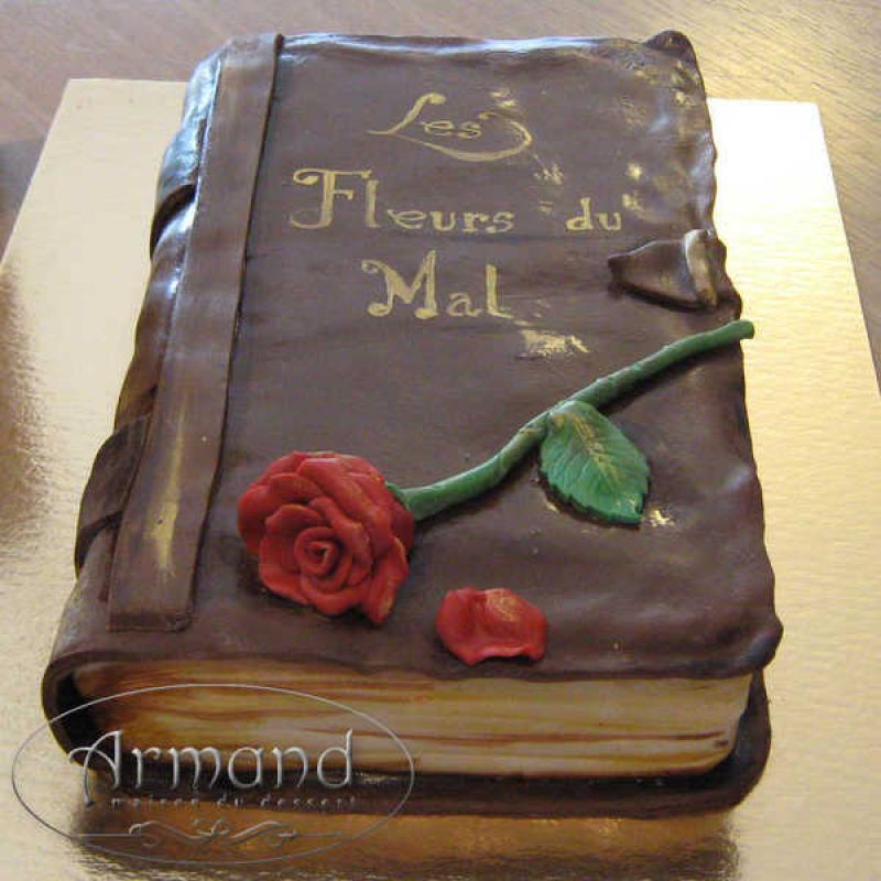 Tort Carte trandafir rosu