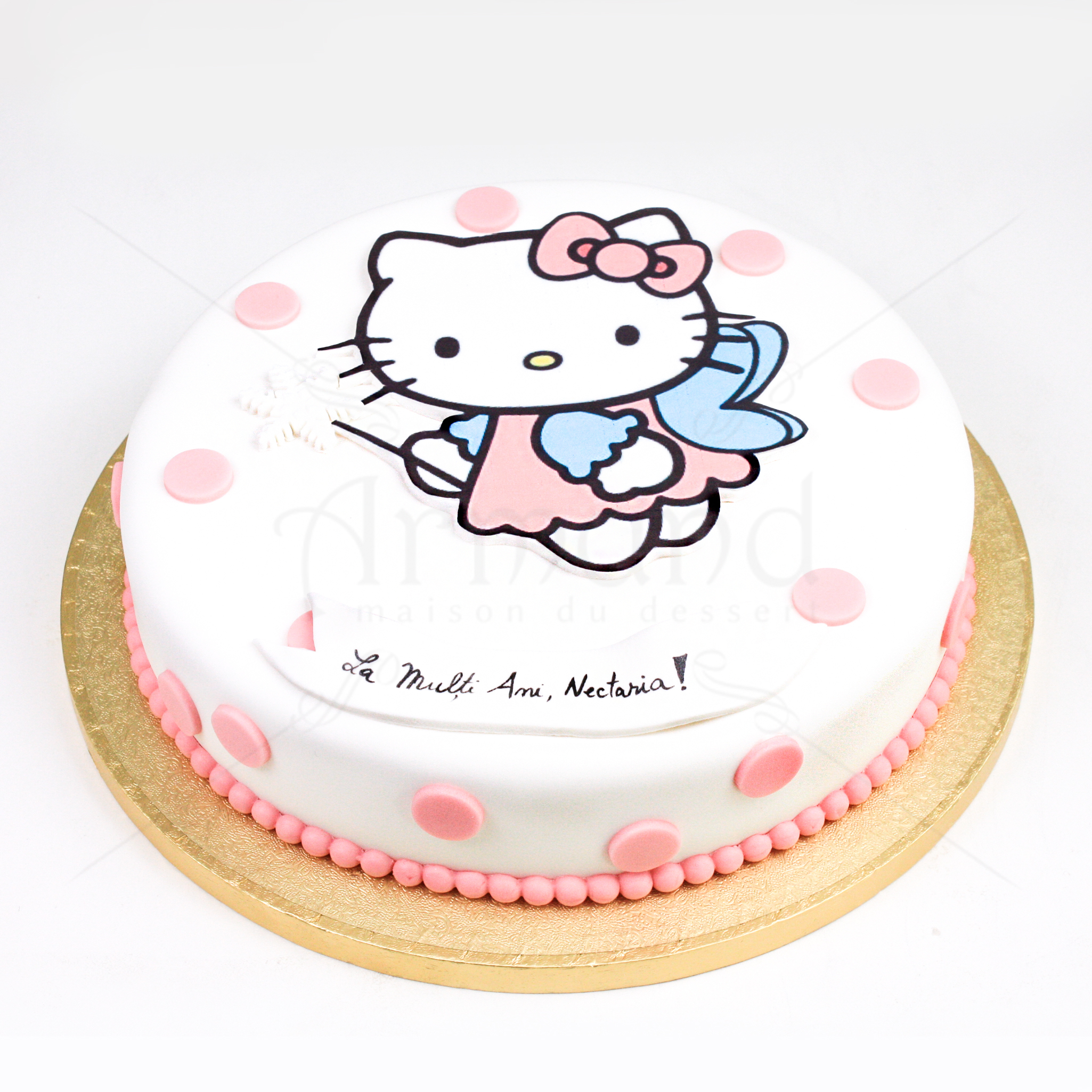Tort Hello Kitty cu buline