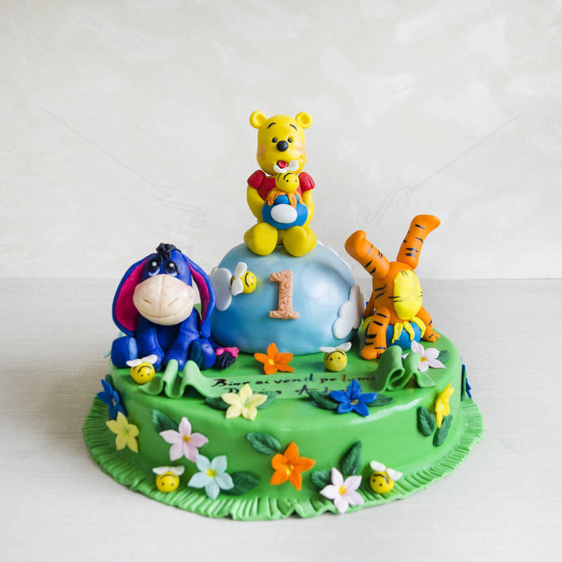 Tort Winnie the Pooh pe norisor