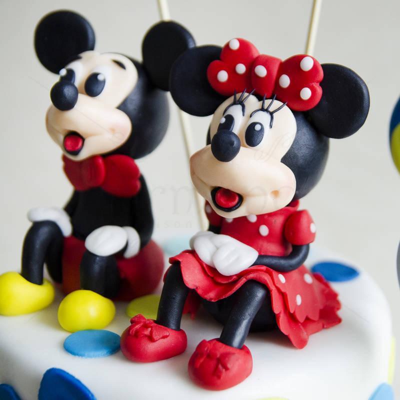 Tort Mickey si Minnie +  acadele