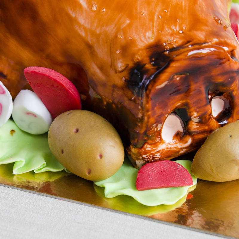 Tort Porc la rotisor