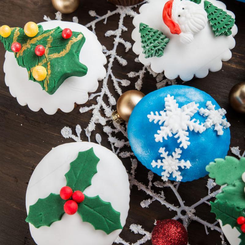 Cupcake Fulg Albastru