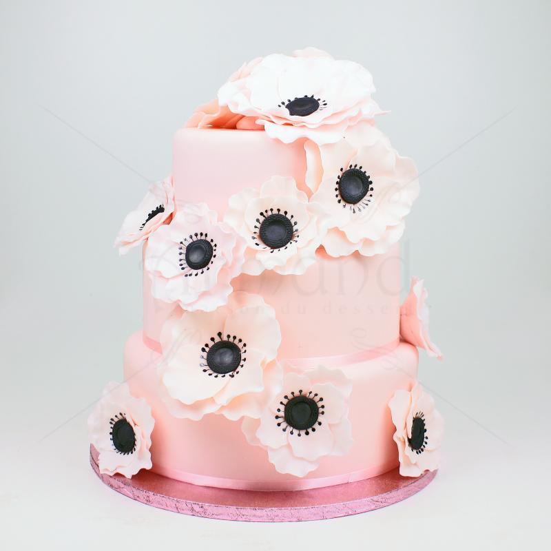 Tort de nunta pink avalanche Anemone